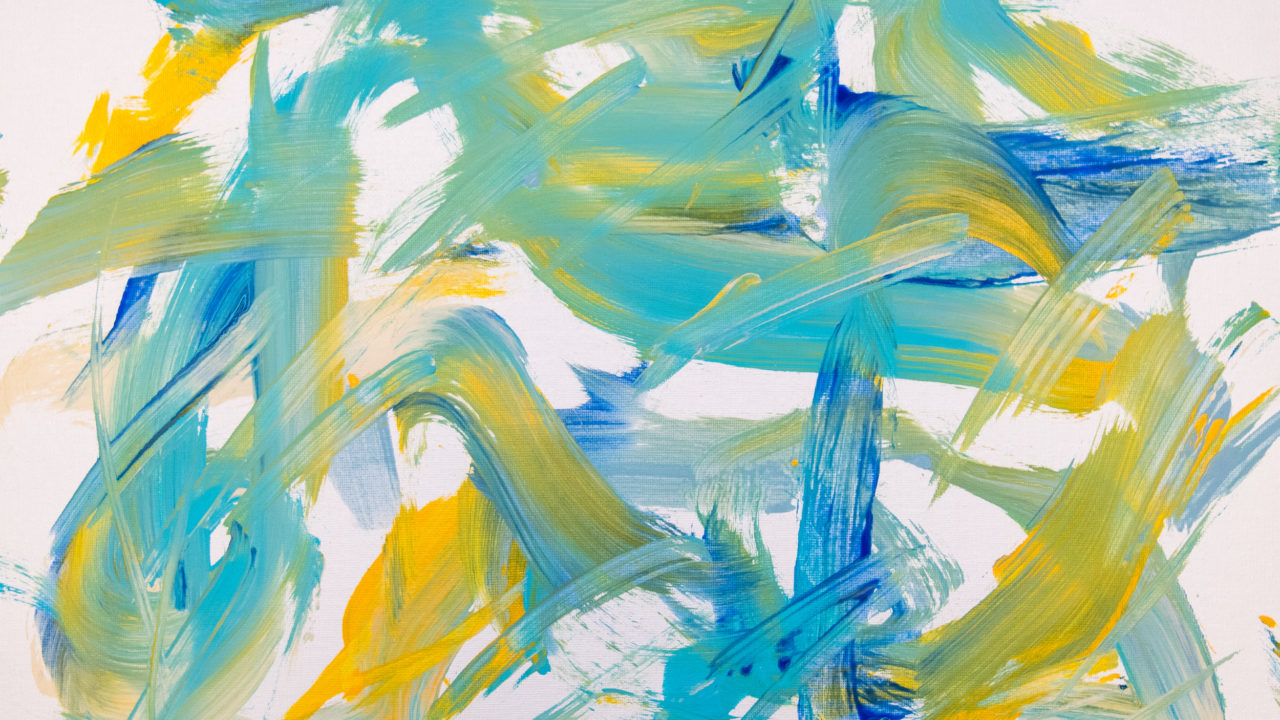 abstract animal artwork painted by a Zoo animal