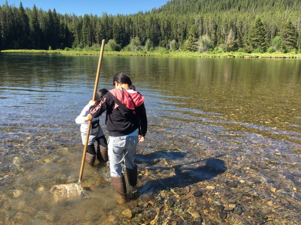 Water quality testing near Yellowstone National Park.