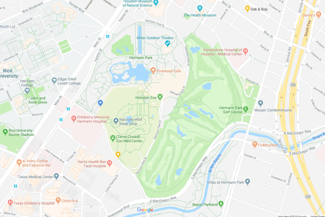 Map Of Texas Medical Center.Directions Parking The Houston Zoo