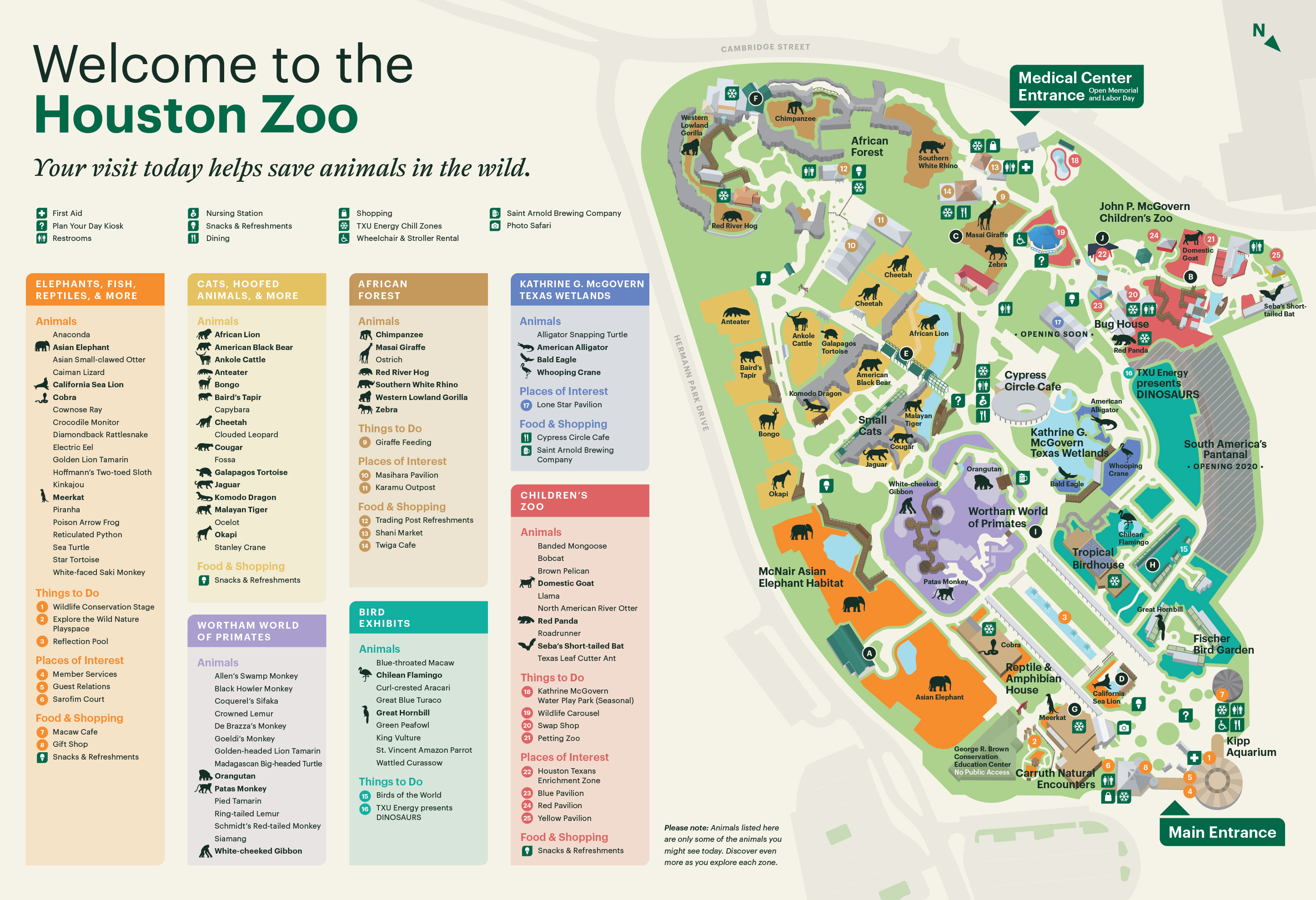 Houston Map Pdf Zoo Map   The Houston Zoo