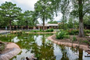 Texas Wetlands habitat at the Houston Zoo