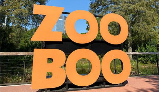 Zoo Boo Sign near Texas Wetlands