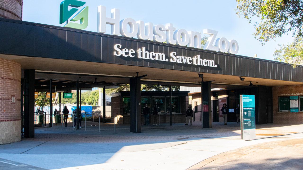 outside view of main Zoo entrance