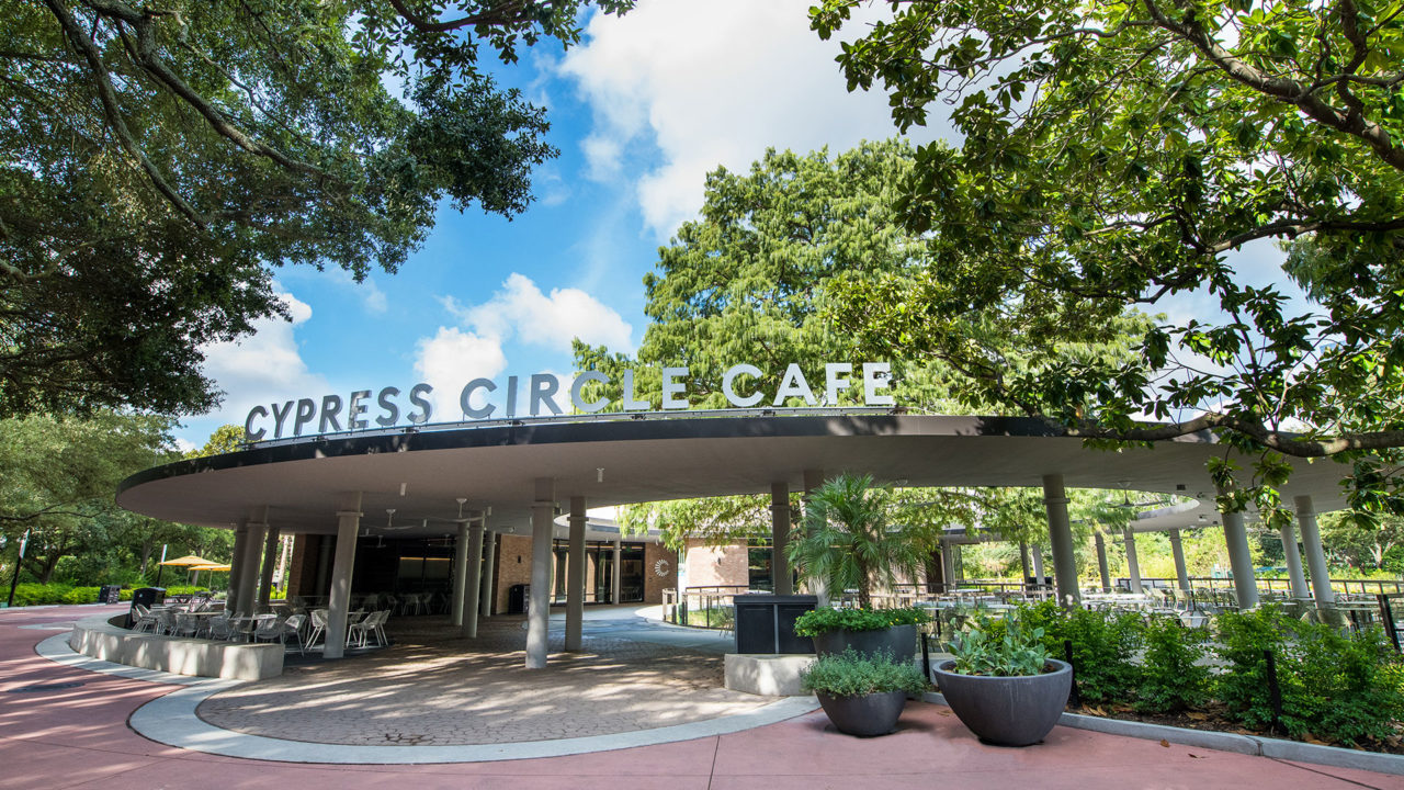 outside view of cypress circle cafe